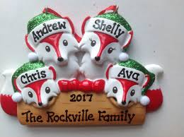 100 personalized family ornaments personalized
