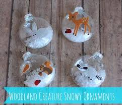 our in a click get crafty woodland creature snowy ornaments
