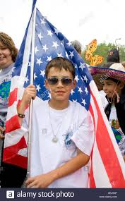 Flags In Spanish Student From Adams Spanish Immersion Carrying American Flag
