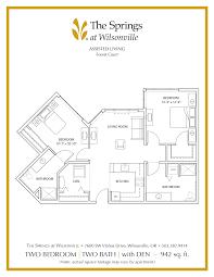 Den Floor Plan Senior Apartment Floor Plans The Springs At Wilsonville