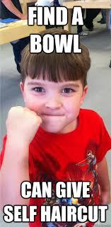 Bowl Haircut Meme - find a bowl can give self haircut 5 year later success kid