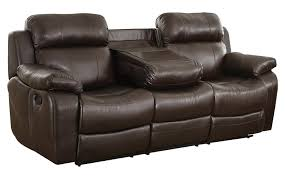 Two Seater Electric Recliner Sofa Homelegance Marille Reclining Sofa W Center Console