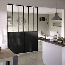 cloison vitree cuisine salon vitre pour verriere des ides en verre vitraux dco dans
