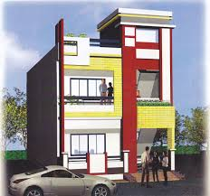Duplex Building by Small Duplex House Front Elevation Gharexpert Small Duplex House