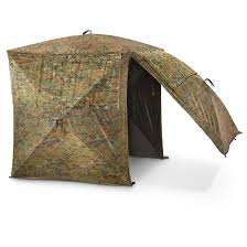 Hunting Ground Blinds On Sale Guide Gear Silent Adrenaline Camo Ground Hunting Blind 663620