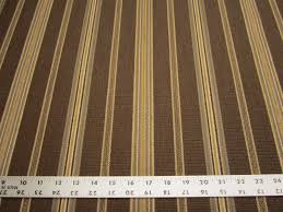 3 8 yards of preston color brown stripe upholstery fabric