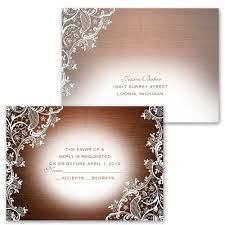Invitation Acceptance Cards Lace Corners Invitation With Free Response Postcard Ann U0027s Bridal
