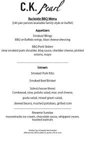 Sample Buffet Menus by Ck Pearl Essex Seafood Restaurant U0026 Bar Waterfront Dining