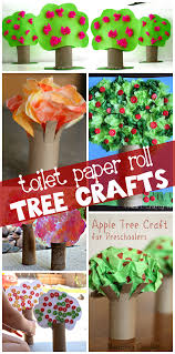 toilet paper roll tree craft ideas for crafty morning