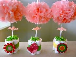 flower pot centerpieces for baby shower baby shower decoration