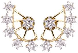 ear cuff online buy shining gold plated ear cuff earing for women online at
