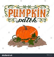pumpkin patch halloween poster hand lettering stock vector