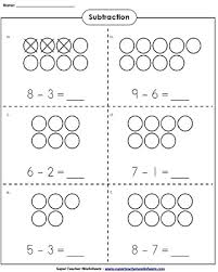 use counters to learn basic subtraction kindergartenmath math