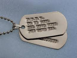 customized dog tag necklace sterling silver embossed dog tags
