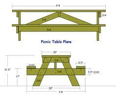 Plans For Round Wooden Picnic Table by Best 25 Picnic Table Plans Ideas On Pinterest Outdoor Table