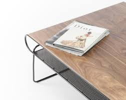 Modern Living Room Tables Hq Solid Wood Furniture By Habitables On Etsy