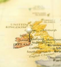 Birmingham England Map by Travel Map Of Dublin Ireland And Birmingham England Stock Photo