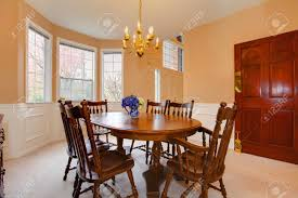 Rustic Dining Room Table Set Soft Colors Dining Room With Carpet Floor Rustic Dining Table