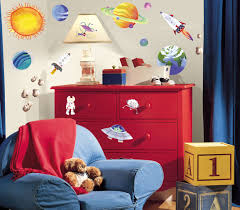 space theme bedroom colorful kids rooms