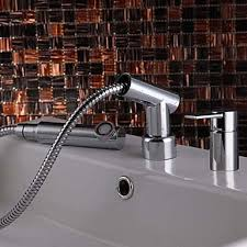 pull out bathtub faucet modern widespread pull out bathroom sink faucet chrome finish