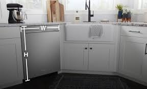 how to install base cabinets with dishwasher standard dishwasher opening dimensions maytag