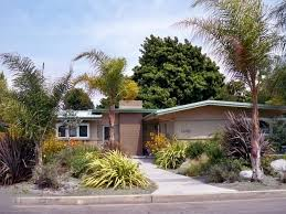 Mid Century Modern Landscaping by A Few Too Many Things For My Liking But The Idea Is Good And The