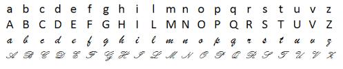 lettere straniere in corsivo maiuscolo e minuscolo fonologia l alfabeto italiano la grammatica italiana senza segreti