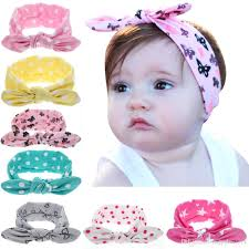infant hair baby lovely rabbit ears headbands infant cotton hair bows