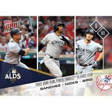 2017 topps now mlb 708 gary sanchez aaron hicks greg bird home runs