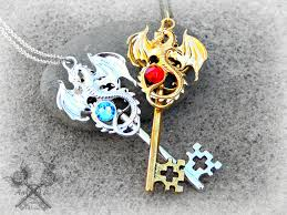 key necklace set images Fire and ice key to my heart necklace set by artbystarlamoore on jpg