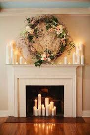 Fireplace Decor The Secret To Decorating A Fireplace Romantic Candles Backdrops