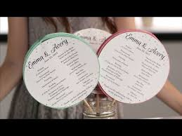 ceremony fans diy ceremony programs your guests will honeycomb ceremony