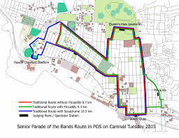 Ncc Map Ncc Announces Parade Route The Trinidad Guardian Newspaper