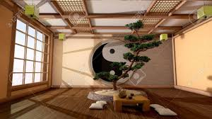 japanese interior the tree image in a japanese interior stock photo picture and