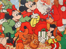 mickey mouse christmas wrapping paper vintage gift wrapping paper disney by thegooseandthehound on etsy