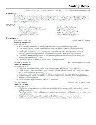 security guard resume top resume security guard articlesites info