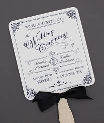 wedding program fan template free diy paddle fan program