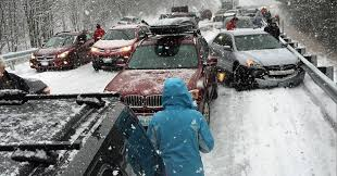 20 vehicle pileup on snowy roads brings traffic on connecticut