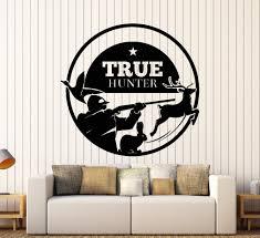 Home Interiors Deer Picture Wall Vinyl Decal Hunting True Wild Hunter Deer Rabbit Home