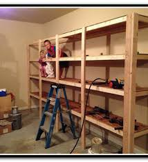 Building Wood Shelf Garage by 2x4 Garage Shelves For Space Addition The Better Garages