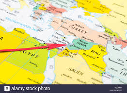 lebanon on the map arrow pointing lebanon on the map of asia continent stock