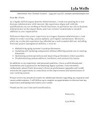 brilliant ideas of cover letter for system administrator position