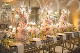 wedding candelabra reception décor photos mirror top table with golden candelabra