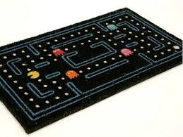 pac man doormat welcomes guests into your incredible things
