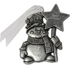 gloria duchin birthstone snowman ornament walmart