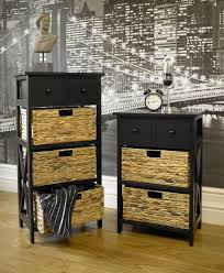 Black Bathroom Cabinets And Storage Units by Black Storage Cabinet With Baskets Storage Decorations