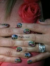 red nails white design nails art nails design ongles laval