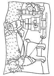 Une image du père noël et du petit ange à colorier  Coloriages de