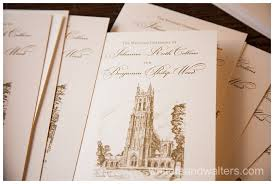 Wedding Program Paper Stock Fairytale Duke Chapel And Washington Duke Inn Wedding
