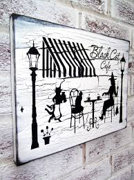 vintage halloween signs black cat cafe halloween decoration halloween signs witch sign